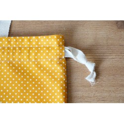 Fabric Bags - Mustard Dots